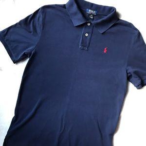 Polo Ralph Lauren Navy Boys Polo **EUC**